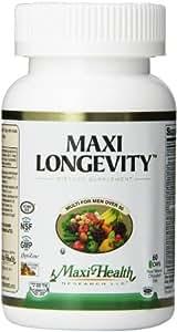 Maxi Health Longevity - Multivitamins & Minerals Supplement for Men Over 50 - 60 Capsules - Kosher