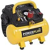 Powerplus 6 Litre, 1.5HP, 6.33CFM, 240v, MWP 116psi, 8BAR Portable Oil Free Air Compressor POWX1721 - 3 Year Home User Warranty