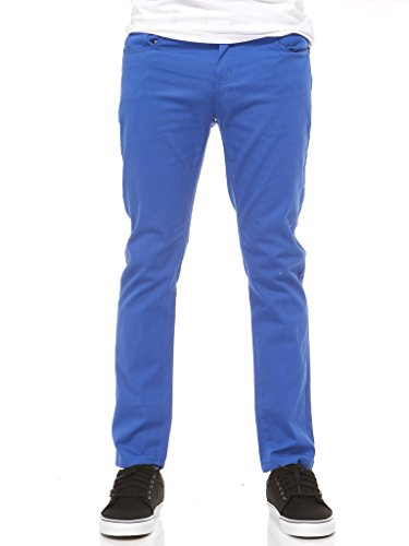 Vertical Sport Men's Slim Fit Stretch Casual Chino Pants – Trendy Cotton Spandex Blend, Royal (Any Day Chino Pants)