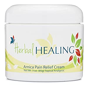 Arnica Pain Relief Cream | Best Arthritis, Joint & Muscle Pain Reliever | Migraine Treatment | Topical Analgesic for Foot, Nerve, Back & Sciatica Pain | Anti Inflammatory | Contains Arnica, B6, & MSM