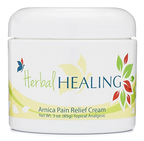 Arnica Herbal - HerbalHEALING Arnica Pain Relief Cream for Arthritis, Joint & Muscle Pain Reliever |Topical Analgesic for Foot, Nerve, Back & Sciatica Pain | Anti Inflammatory | Contains Arnica, B6, & MSM