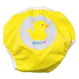 Swimava Reusable Baby Swim Diaper - Yellow S1
