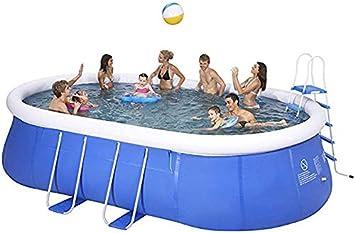 FMXYMC Piscina, Piscina Infantil para Adultos, Piscina privada Ovalada Grande, Soporte Exterior, Engrosamiento, protección del Medio Ambiente en Verano,Small