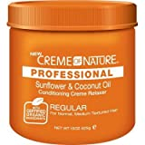 Creme of Nature Professional Relaxer Regular Sunflower Oil 15 oz. Jar