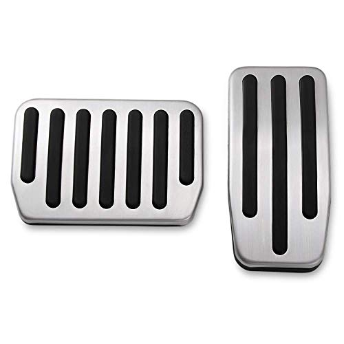 ormance Pedal Set, Auto Aluminum Foot Pedal Pads Pedal Covers for Tesla Model 3 ()