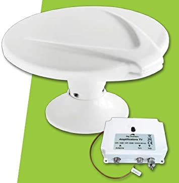 BBtel Antena omnidireccional 360 Digital TV LTE 20dB 12/24v ...