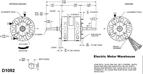 Fasco D1092 5.0-Inch OEM Direct Replacement Motor, 1/3 HP ... on