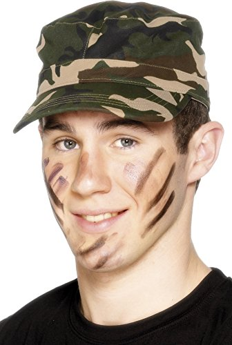 [Smiffy's Adults Unisex Army Cap, Camouflage, Adjustable, One Size, 29136] (Womens Army Costumes Australia)