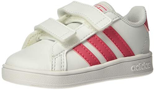 (adidas Baby Grand Court Sneaker Real Pink/White, 6K M US Toddler)