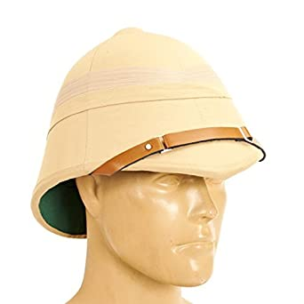 21240d8eb7c91 Amazon.com  British P-1895 Khaki Victorian Colonial Pith Helmet  Clothing