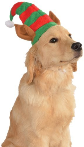Rubie's Christmas Pet Costume, Small to Medium, Elf Hat with Ears (Puppy Elf Costume)