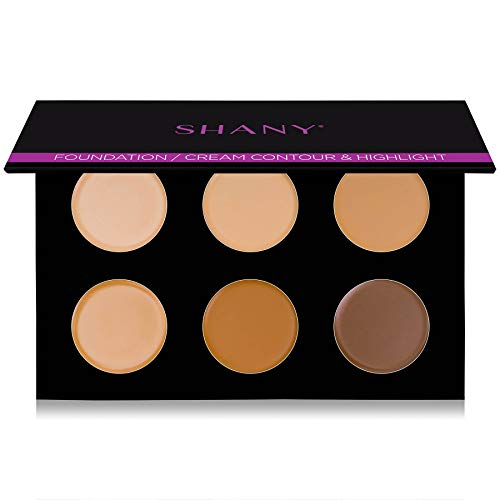 SHANY Foundation/Cream Contour & Highlighting Palette - Layer 1 - Refill for the 6 Layer Mini Masterpiece Collection Makeup Set