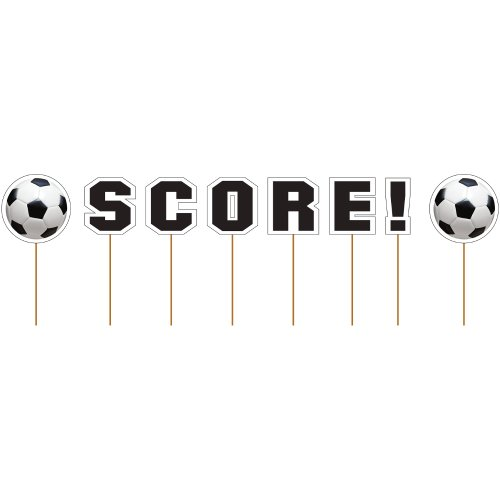 Picks Sports Available - Creative Converting Sports Fanatic Soccer Score Cupcake Picks
