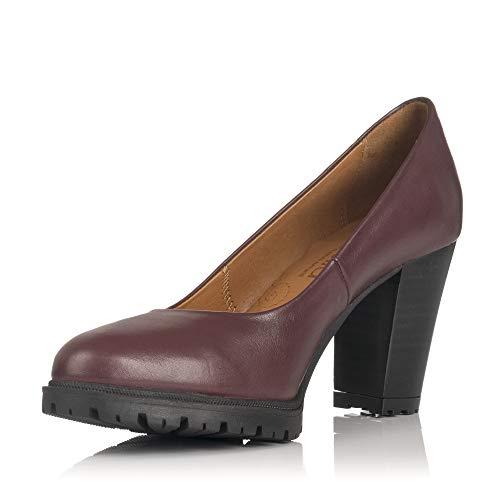 Zapatos Tacón Burdeos Modabella De Rojo 127 Salones 653 pwrqpt