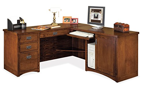 Hardwood Veneer Furniture Collection - Martin Furniture Mission Pasadena Right L-Shaped Desk