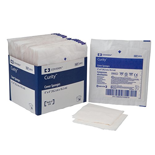 Covidien 2913 Curity Cover Sponge, Sterile 2's in Peel-Back Package, 4