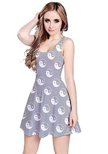 CowCow - Vestido - para mujer Gray Yin Yang