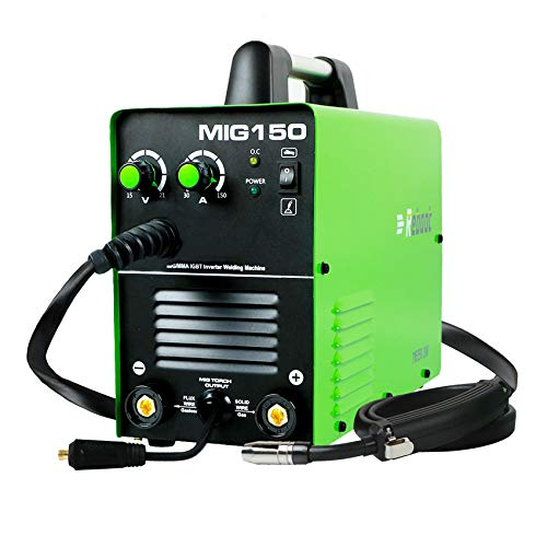 MIG Welder Flux Core Gasless - Reboot MIG150 Stick Mig Welding Machine 150 Amps Gas and Gasless 220V 2 in 1 Flux Core/Solid Wire Automatic Feed IGBT Inverter MMA ARC Welding for Mild Stainless Steel
