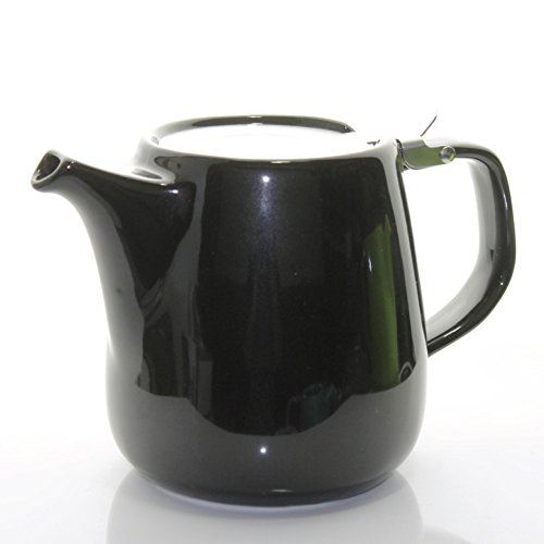 Tealyra Daze Ceramic Teapot with Stainless Steel Lid and Infuser, 700ml / 24 oz - Black