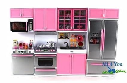 Amazon.com: Kids Kitchen Cooking Pretend Play Set Large ...