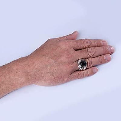 925 Silver Gemstone SZ 8 thru 13 Rope Border Wide Ring (Choice of Stones)