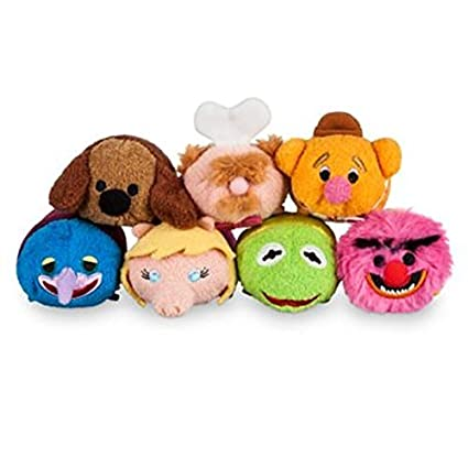 Disney Store Muppets Full Set of 7 Plush Mini Tsum Tsum 3.5 Kermit Miss Piggy by