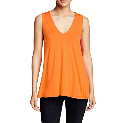 (HEATHER Womens V Neck Swing Tank Tigerlily Small)