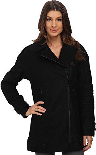 Vince Camuto Women's Asymmetrical Moto Wool J8141 Black Sweater