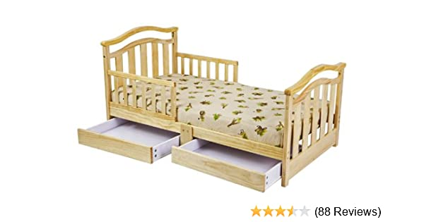 Amazoncom Dream On Me Elora Toddler Bed With Storage Drawer