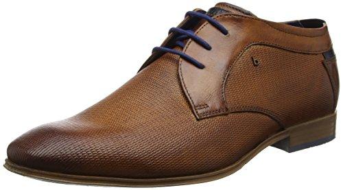 Bugatti Herren 311101142100 Derbys Braun (Cognac)