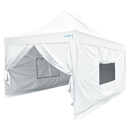 Quictent Upgraded Privacy 10x15 EZ Pop Up Canopy Tent Instant Folding Outdoor Party Tent with Sidewalls and Wheeled Carry Bag Waterproof (White)