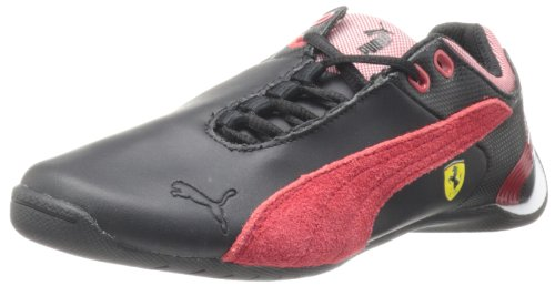 PUMA Future Cat M2 Ferrari Junior Tennis Shoe (Little Kid/Big Kid),Black/Rosa Corsa,6 M US Big - Cat Ferrari Future