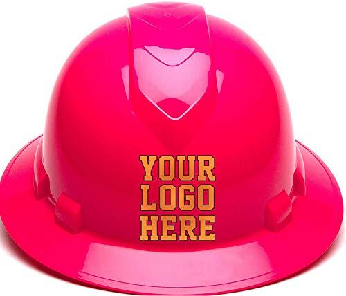 Custom Hard Hats - Personalized Logo - Pyramex Ridgeline Full Brim 4 Point Ratchet Suspension from RUGGEDIM