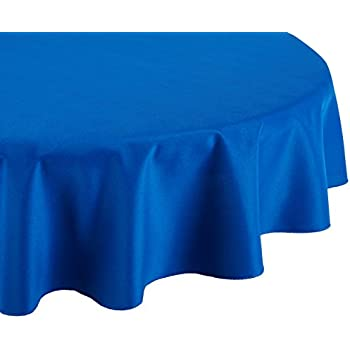 High Quality LinenTablecloth 70 Inch Round Polyester Tablecloth Royal Blue