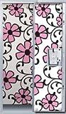 Pink Flower Scroll Locker Wallpaper