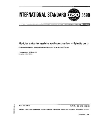 ISO 3590:1976, Modular units for machine tool construction - Spindle units ()