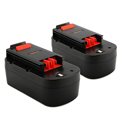 (Shentec 2-Pack 3.0Ah 18V Battery Compatible with Black&Decker A1718 HPB18 HPB18-OPE 244760-00 A18 A18E Firestorm FS180BX FS18BX FS18FL FSB18 NST2118 (Ni-MH))