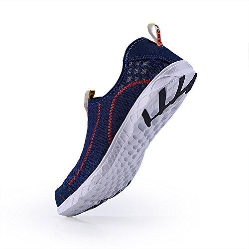 Scarpe Da Acqua Da Ginnastica Unisex Quick-dry Summer Beach Swim Shoes Aqua Socks Walking Sneakers Per Surf Yoga Acquagym Blu Scuro