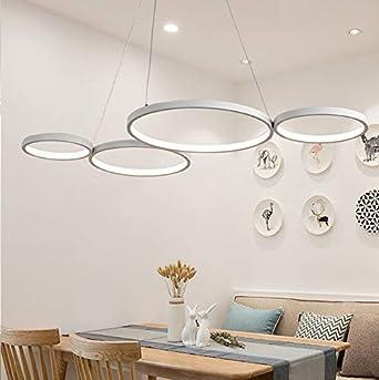 LED 70W Pendelleuchte Modern 4 Ring Design Hängeleuchte Wohnzimmer ...
