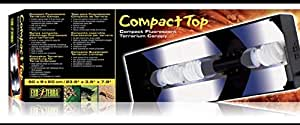 EXO TERRa- 60 CM Compact Top Fluoresent Terrarium Canopy Cover- Hagen