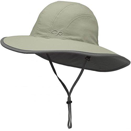 Outdoor Research Kids' Rambler Sun Sombrero, Khaki/Dark Grey, Large - Outdoor Cap Cap