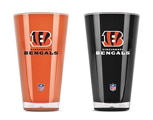 NFL Cincinnati Bengals 20oz Insulated Acrylic Tumbler Set of -