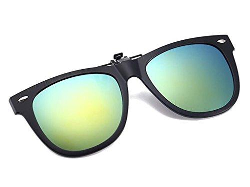à Lunettes Rabattre lumière lunettes sur Tukistore soleil soleil po clip soleil polarisées de lunettes la contre de soleil fixation de Clip Rond clip Clip les rabattable de polarisées vert polarisé Lunettes de OfYYRntwx