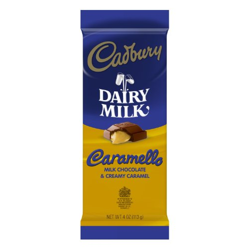 Caramello Bar - Cadbury Caramello Bar, 4-Ounce Bars (Pack of 6)