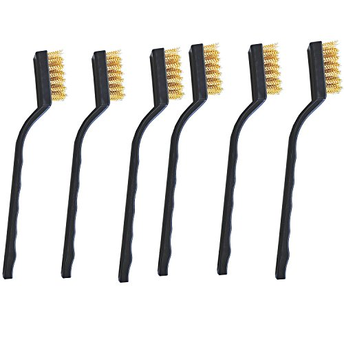 6 pieces wire brush,Brass Brushes,for Cleaning Welding Slag and Rust.Paint - Cleaning Brass