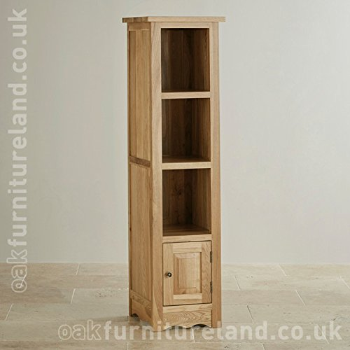 Cairo Natural Solid Oak (Slim) Tall Bookcase