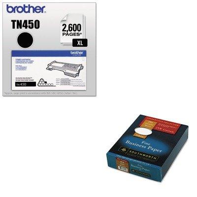 KITBRTTN450SOU403C - Value Kit - Southworth 25% Cotton Business Paper (SOU403C) and Brother TN450 TN-450 High-Yield Toner (BRTTN450)