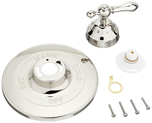 (Rohl AC100LM-PN Cisal Trim Set to Pressure Balance with Classic Metal Lever Without Diverter, Polished Nickel)