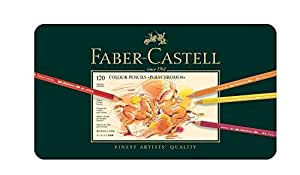 Faber Castell Polychromos Color Colour Pencils Metal Tin Set of 120 with Cd
