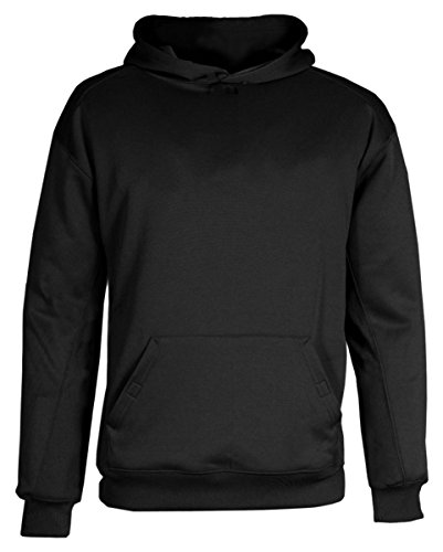 Badger Sport Youth BT5 Performance Hooded Sweatshirt - 2454 - Black - Large